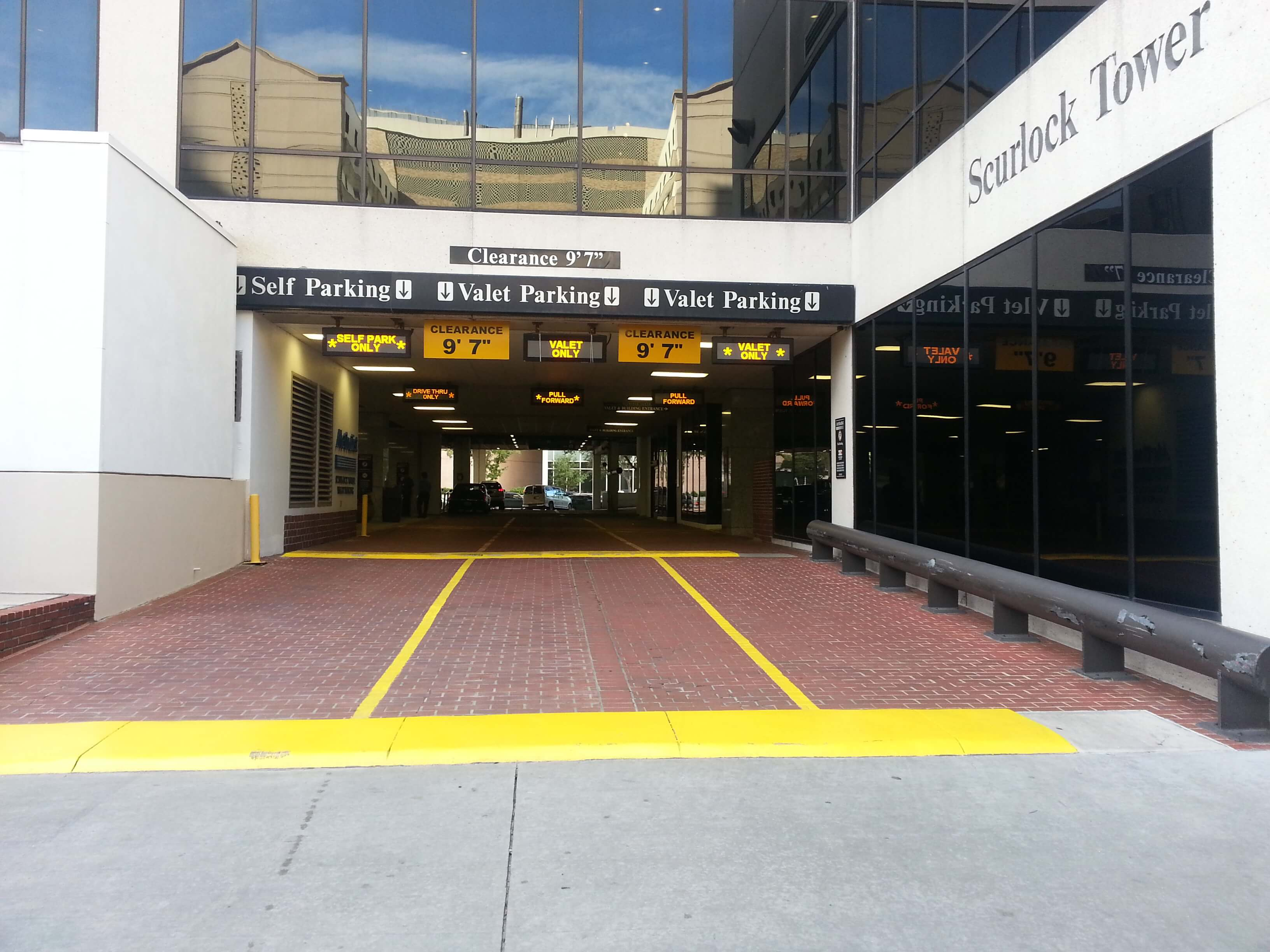 Parking Entrance to the O'Quinn Medical Tower - PCCS Houston